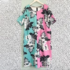 Eloquii | Scuba Neoprene Split Floral Print Dress